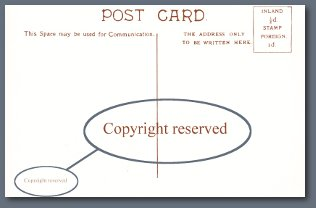 Shell Postcard - Showing 'Copyright reserved'